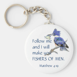 Scripture, Fishers of Men, Inspirational Quote Key Ring