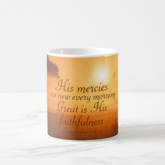 Scripture His mercies are new every morning Coffee Mug