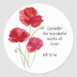 Scripture, Inspirational, Quote, Flower, Poppy Stickers