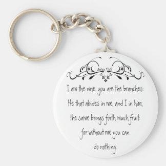 Scripture, John 5:15 I am the Vine Key Ring
