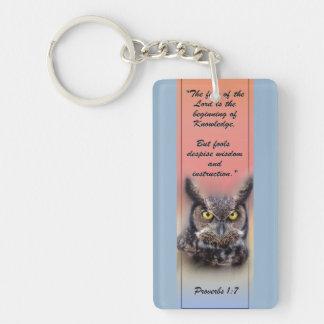 Scripture Keychain Wisdom & Owl