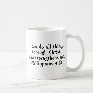 scripture Phil 4:13 Basic White Mug