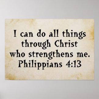 scripture philippians 4:13 poster