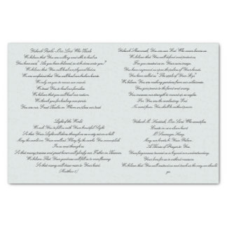 Scripture Prayer Decoupage' Tissue Paper
