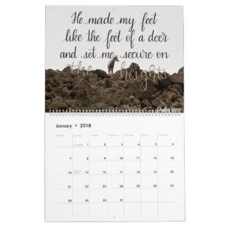 Scripture Verse 2018 Hand Lettered Calendar