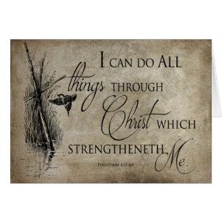 SCRIPTURE VERSE: Philippians 4:13 KJV - Religious Card