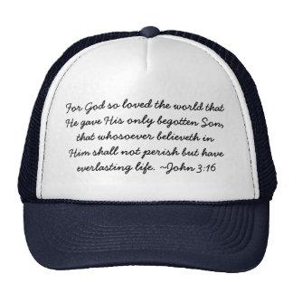 Scripture Wear hat - John 3:16