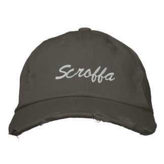 Scroffa Vintage Cap Embroidered Hats