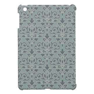 Scroll Damask Big Pattern (outline) Crm Blue Teal iPad Mini Cover