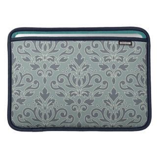 Scroll Damask Lg Pattern (outline) Cream Blue Teal Sleeve For MacBook Air