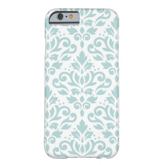 Scroll Damask Lg Ptn Duck Egg Blue (B) on White Barely There iPhone 6 Case