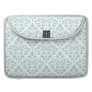 Scroll Damask Ptn Duck Egg Blue (B) on White Sleeve For MacBook Pro