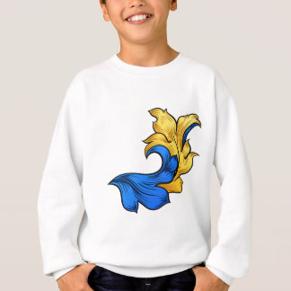 Scroll Filigree Floral Pattern Heraldry Design Sweatshirt