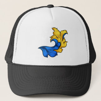 Scroll Filigree Floral Pattern Heraldry Design Trucker Hat
