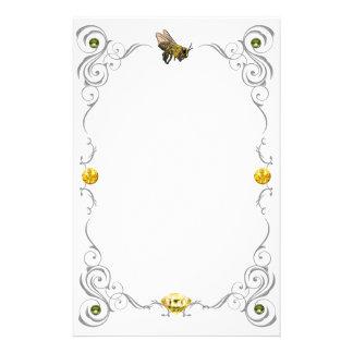 Scroll Honey Bee Stationery
