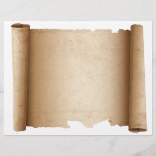 Scroll Horizontal Vintage Paper Letterhead