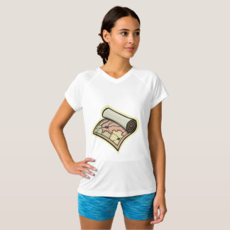 Scroll Map Womens Active Tee