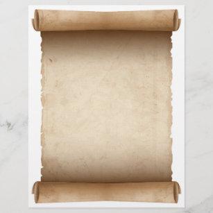 Scroll Paper Letterhead