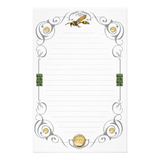 Scroll Potter Wasp Lined Personalized Stationery