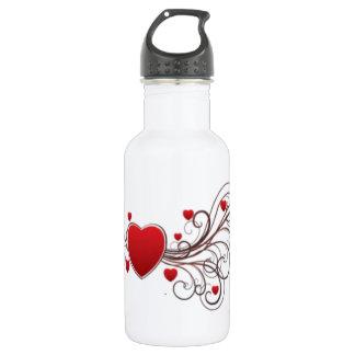 Scrolled Heart 532 Ml Water Bottle