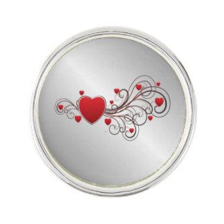 Scrolled Heart Lapel Pin