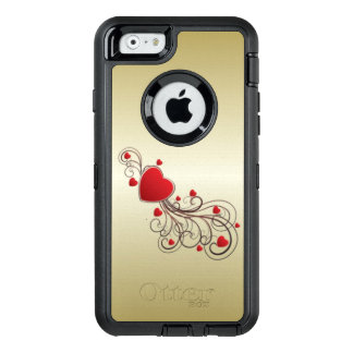 Scrolled Heart OtterBox Defender iPhone Case