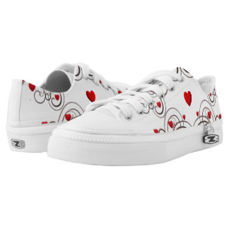 Scrolled Hearts kash003 Low Tops