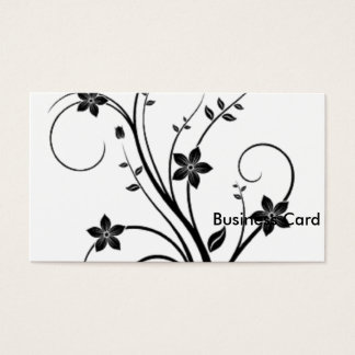 Scrolling Vine Business Card