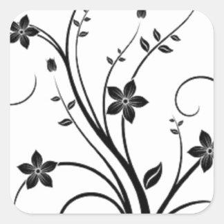 Scrolling Vine Square Sticker