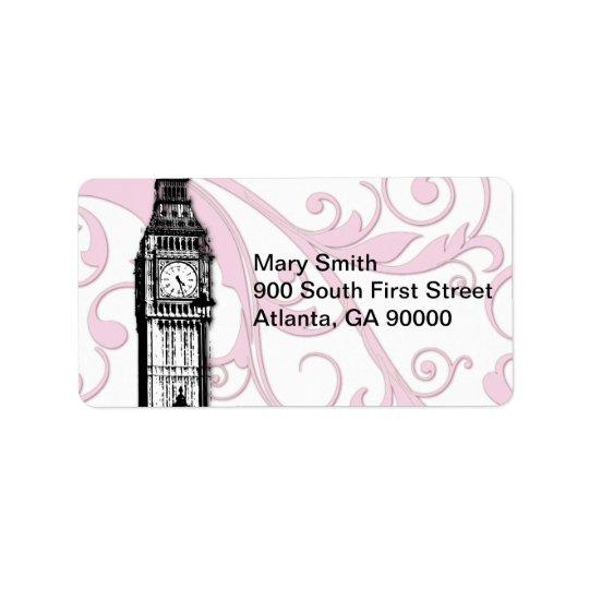 Scrolls and Big Ben Address Label