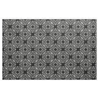 Scrolls Curls Silver Filigree Design 2 Fabric