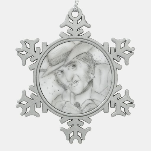Scrooge in Black and White Ornament