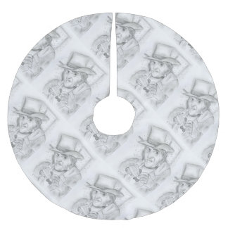 Scrooge in Black and White Brushed Polyester Tree Skirt