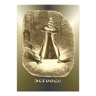 Scrooge of Christmas - A Christmas Carol Personalized Invitation