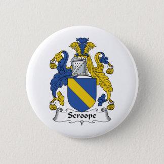 Scroope Family Crest 6 Cm Round Badge
