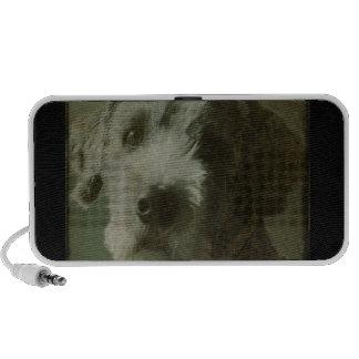 Scruffy Dog Antique Photo Speaker