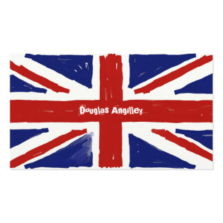 Scruffy Union Jack, Pack Of Standard Business Cards