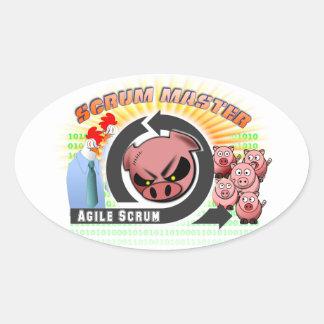 Scrum Master Oval Sticker