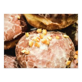 Scrumptious Nutty Glazed Donuts 14 Cm X 19 Cm Invitation Card