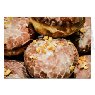 Scrumptious Nutty Glazed Donuts Greeting Cards