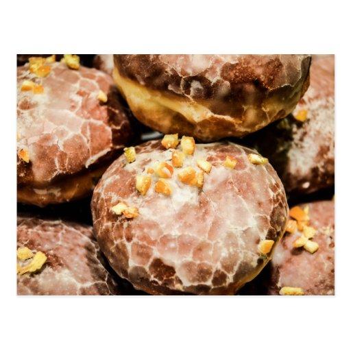 Scrumptious Nutty Glazed Donuts Postcard