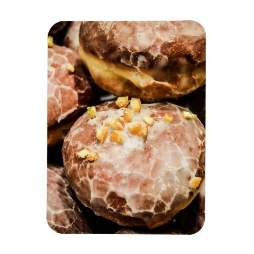 Scrumptious Nutty Glazed Donuts Vinyl Magnets