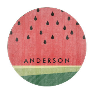 Scrumptious Watermelon | Custom Name Cutting Board