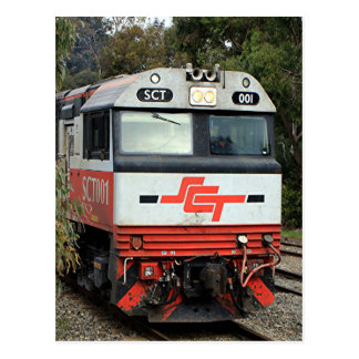 SCT001 locomotive train engine Postcard