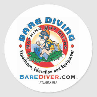 Scuba Crazy Diver, ATLANTA USA Classic Round Sticker