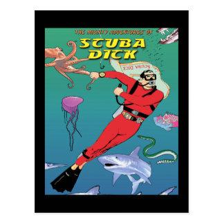 Scuba Dick Postcard