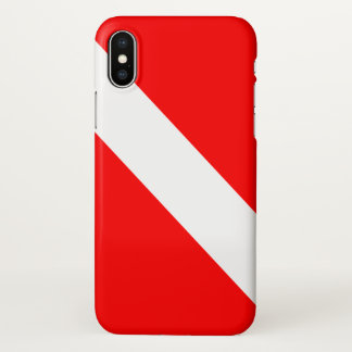 Scuba Dive Flag iPhone X Case