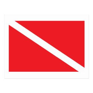 SCUBA Dive Flag Postcard