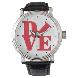 Scuba Dive Pop Art Wrist Watches