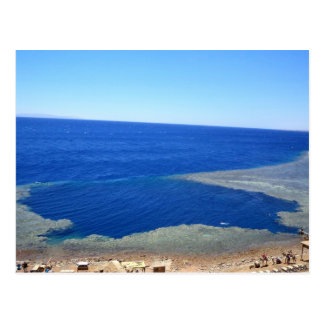 Scuba Dive Spot Blue Hole Postcard